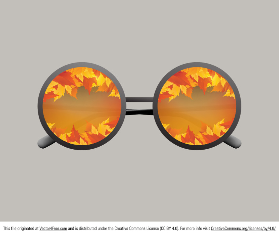 Fall Glasses Vector