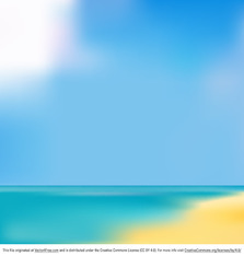 Blurry Beach Background Vector