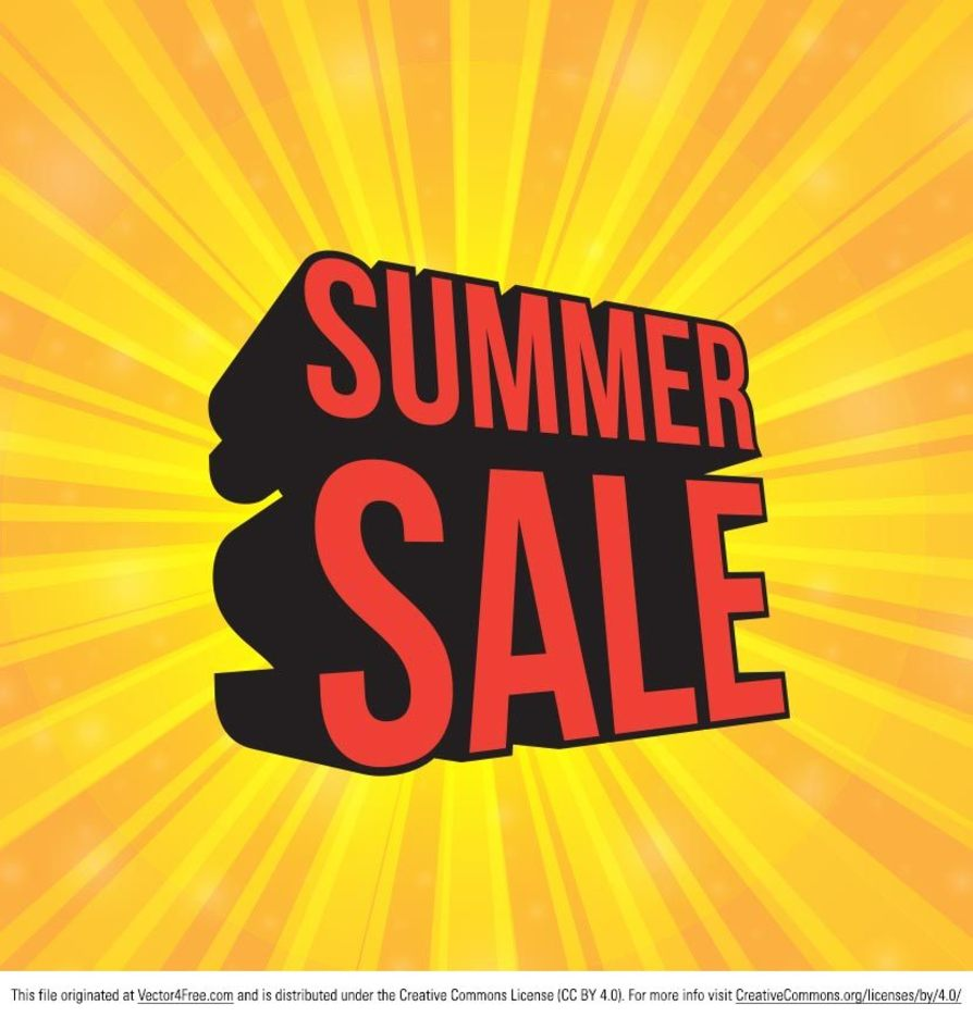 Sunburst Summer Sale Vector