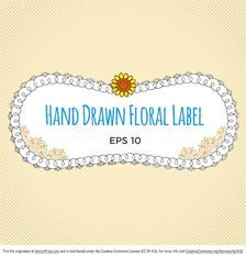 Hand Drawn Label Vector