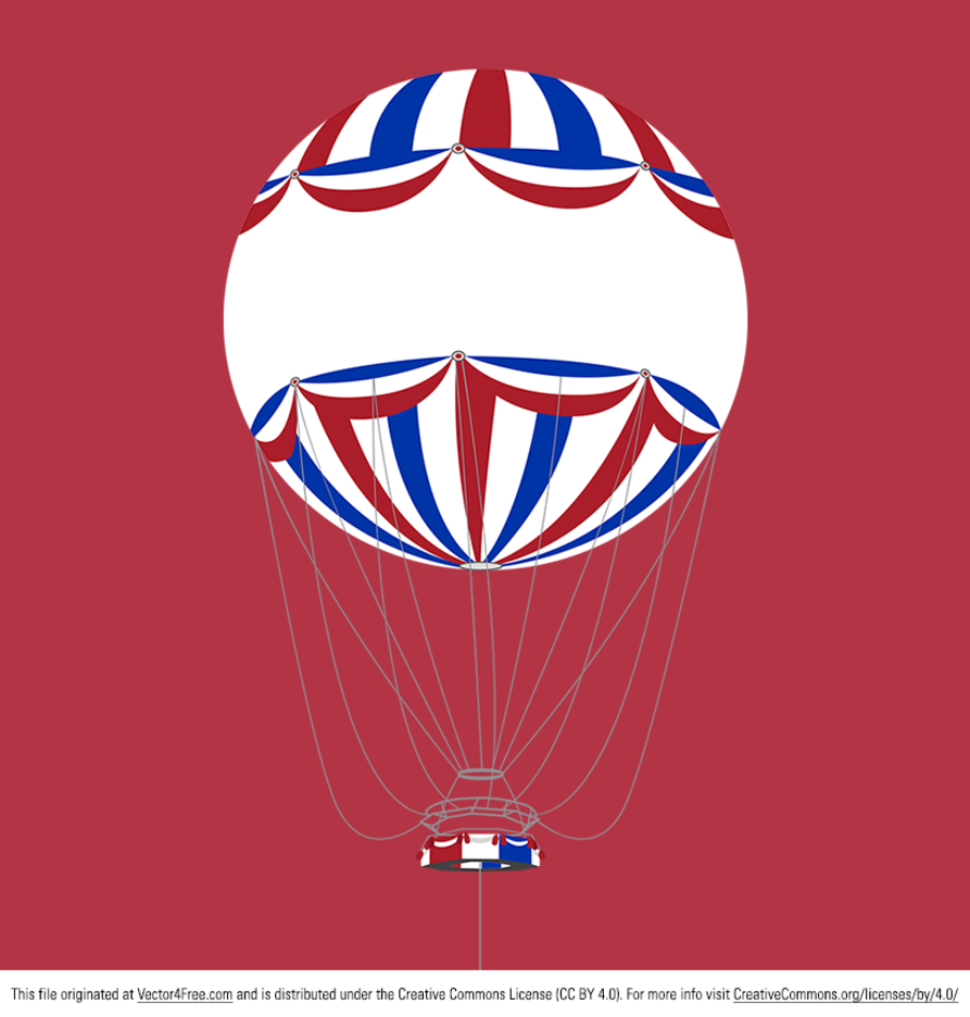 Bournemouth Hot Air Balloon Vector Background