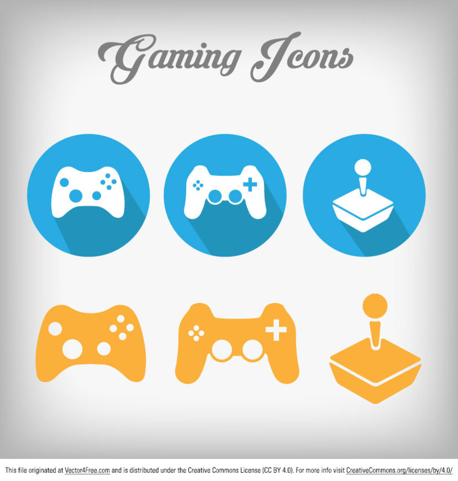 Free Gaming Vector Icon Set