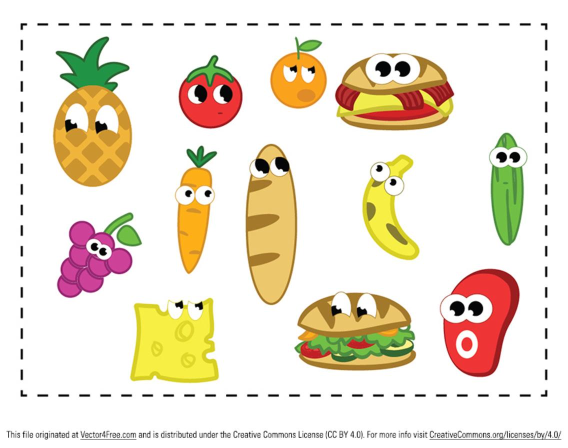 Cartoon Food Vector Pack