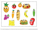Cartoon Food Vector Pack