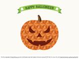 Flat Geometric Jack O' lantern / Pumpkin