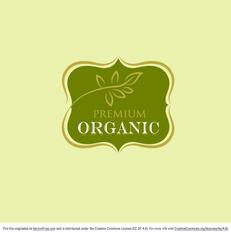 Free Vector Premium Organic Logo