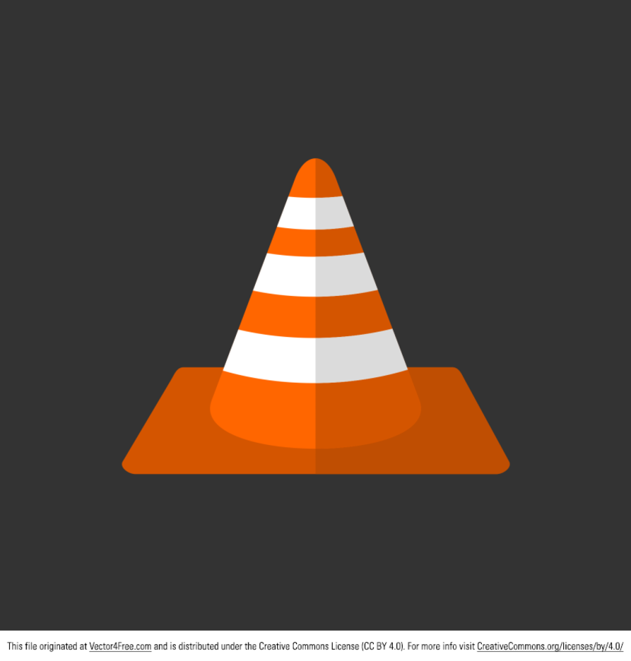 Free Vector Orange Traffic Cone