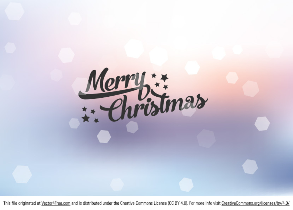 Bokeh Merry Christmas Background Vector