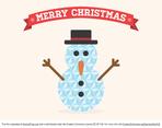Free Vector Flat Geometric Minimalist Christmas Snowman