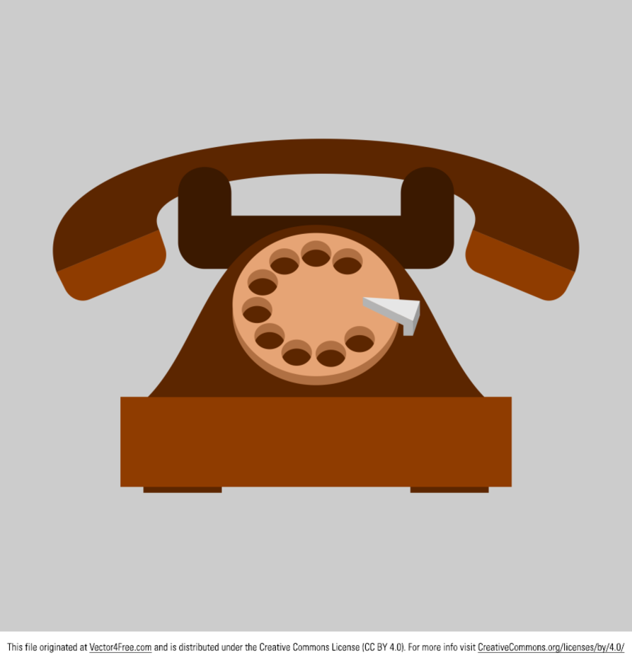 Free Vector Old Telephone Icon