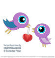 Two Love Bird Vectors