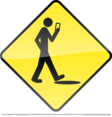Smart Phone Stupid Human Vector Sign