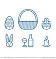 Free Vector Linear Easter Icon Pack