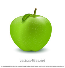 Free Green Apple Vector