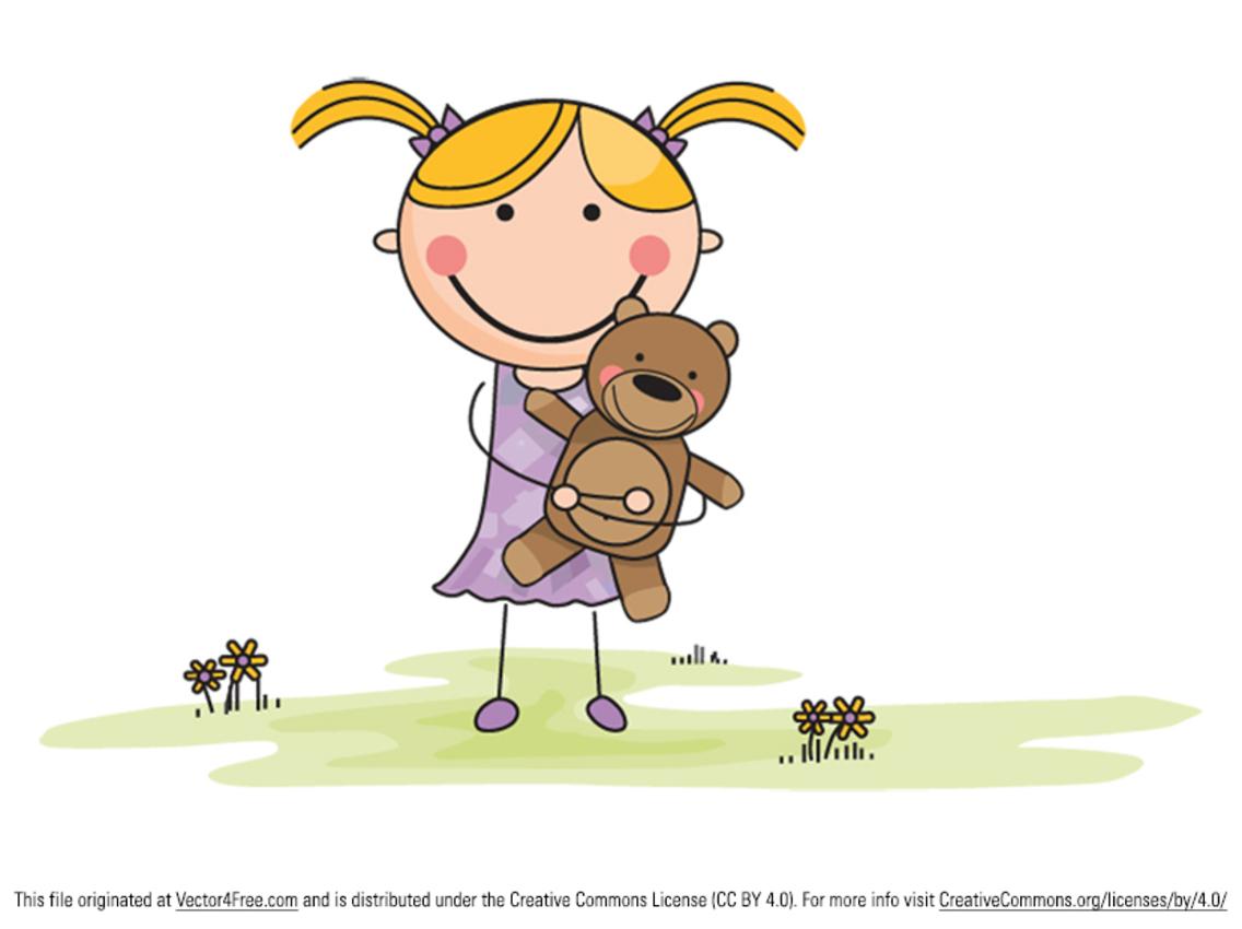 Animals Girls Cartoon