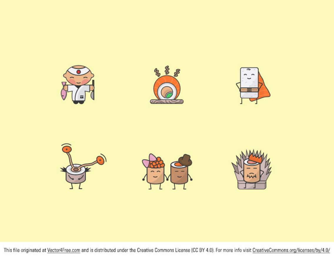 Free Sushi Vector Icons
