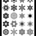 24 Abstract Snowflake Shapes B