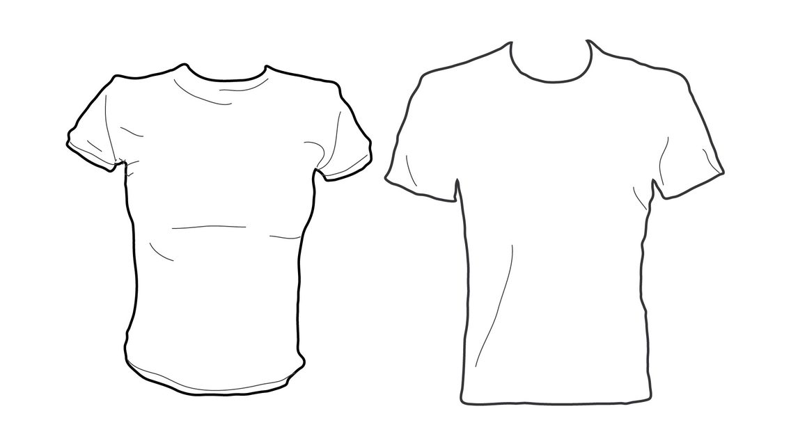 Tee Shirt Vector Template By M