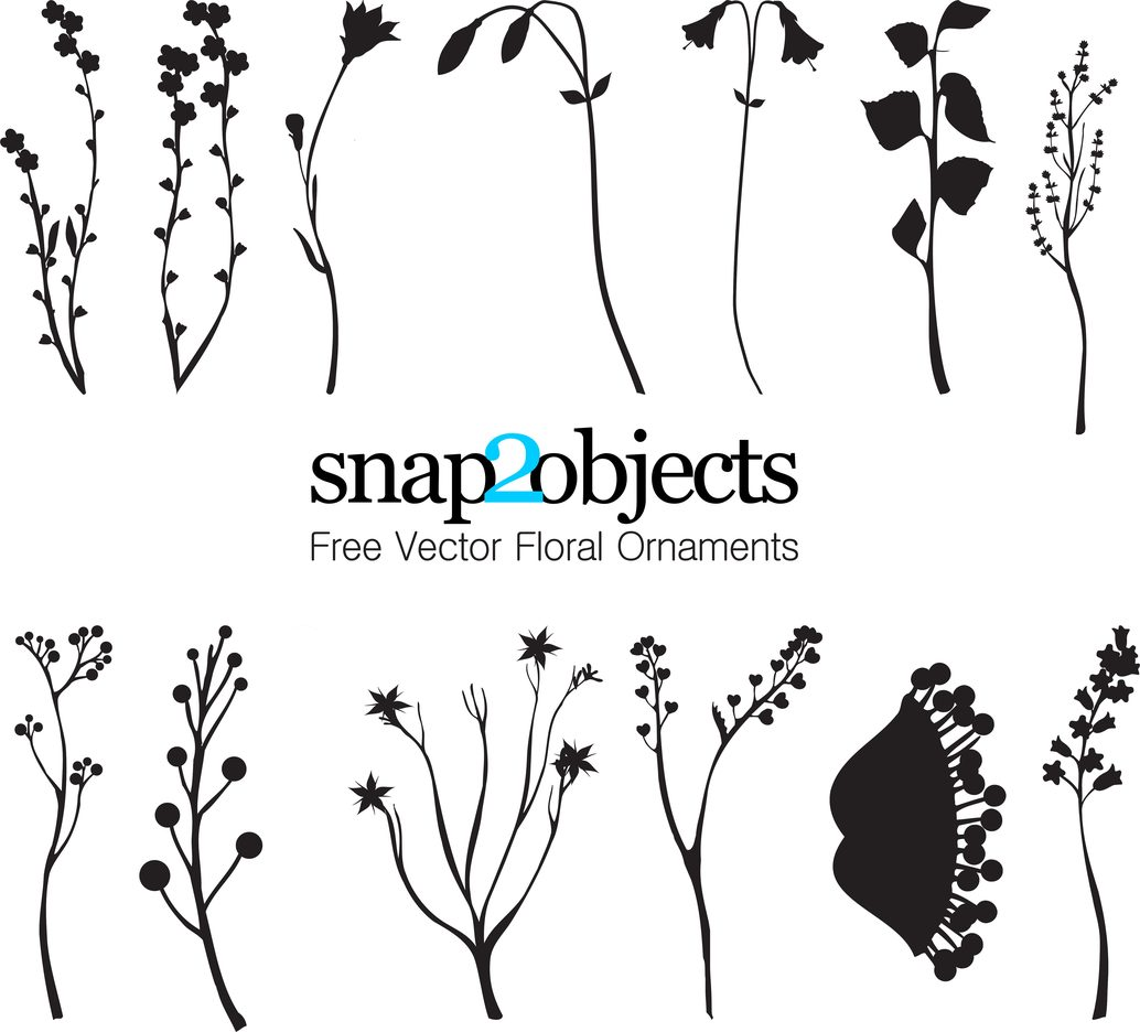 13 Free Vector Foliage Ornaments