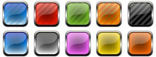 Class And Metal Buttons And Icons