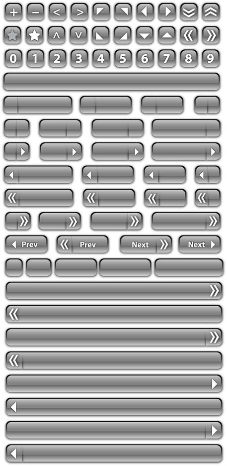Glass Button Vectors And Bars