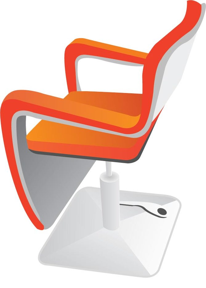 Hairdressing Chair Vector