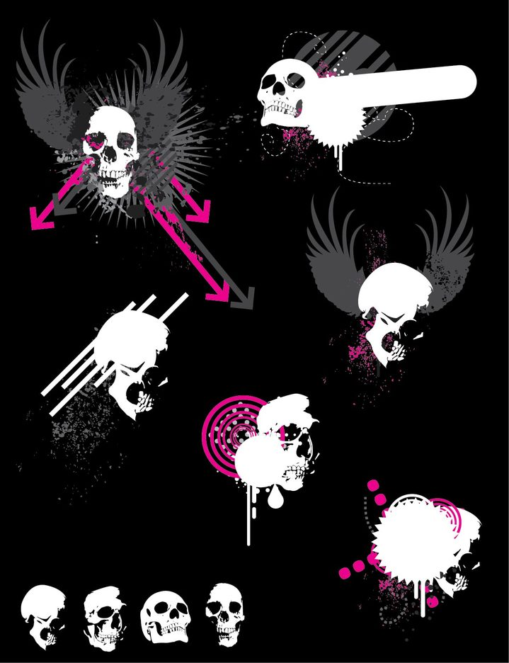 Skulls Vector - Ben Blogged
