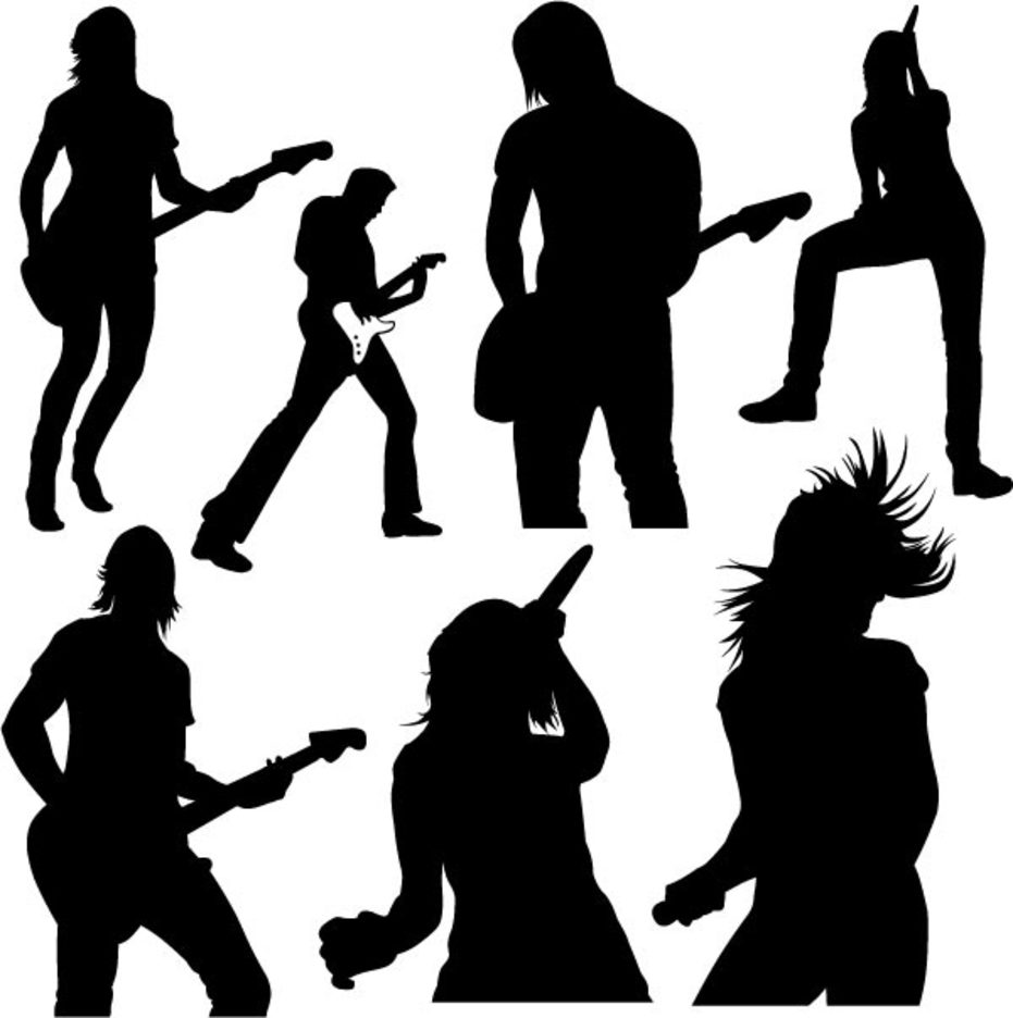 Live Music Vector Silhouettes