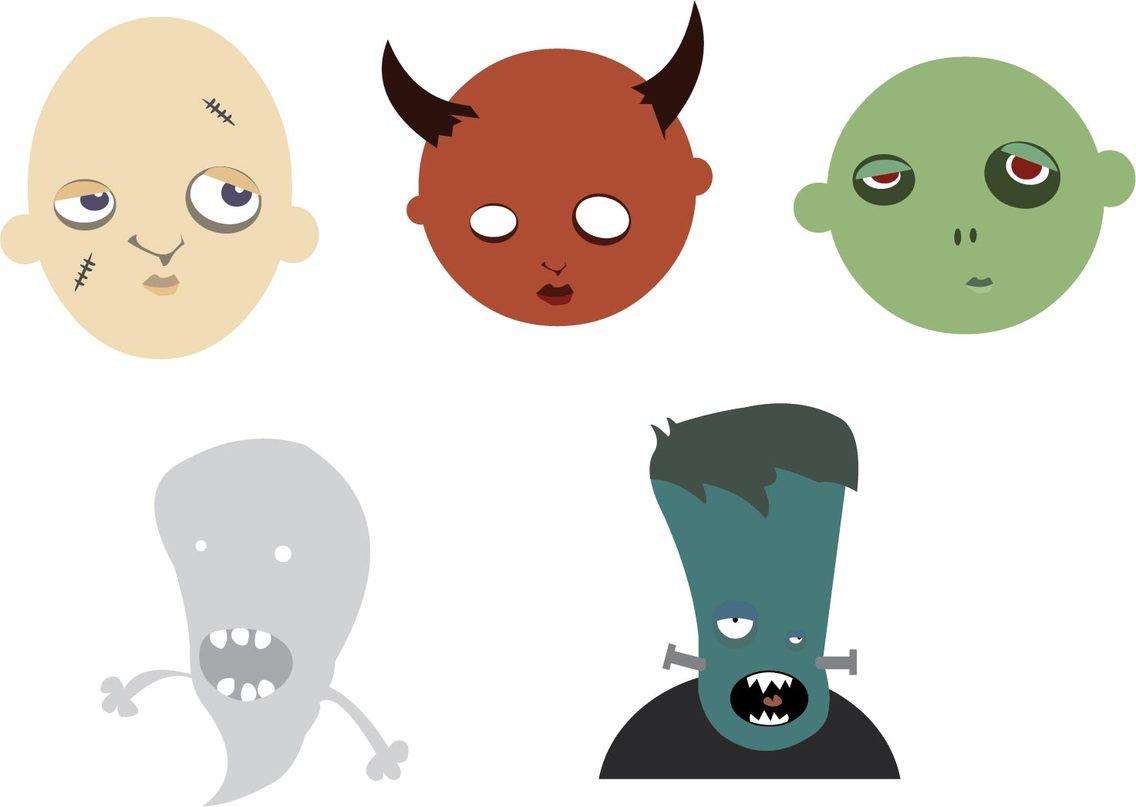 Halloween Heads Vector