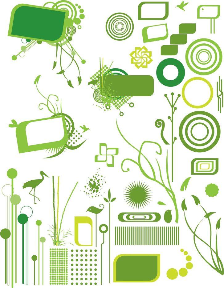 Go Green Modern Organic Vector