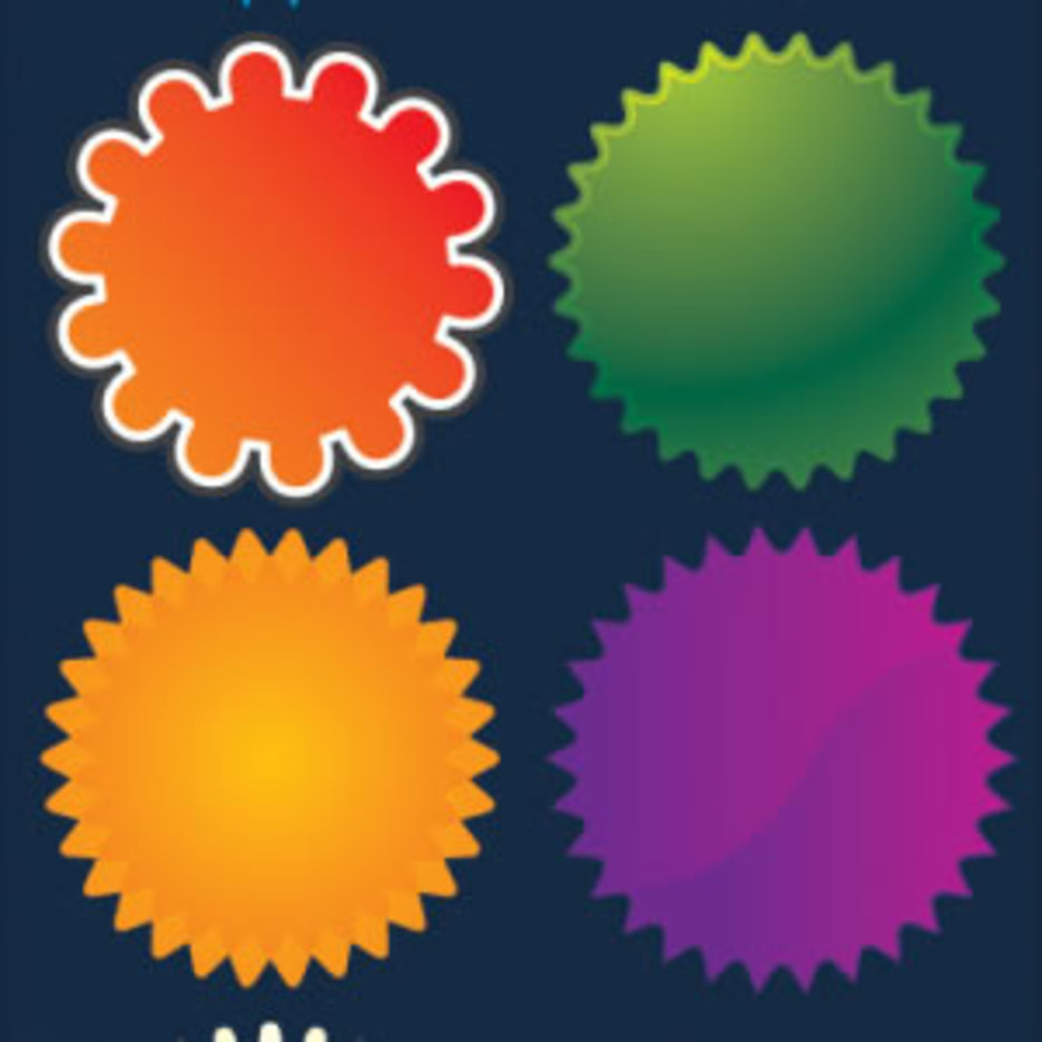 7 Web 2 0 Badge Vectors