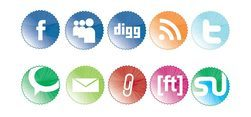 Social Bookmarking Icons badges