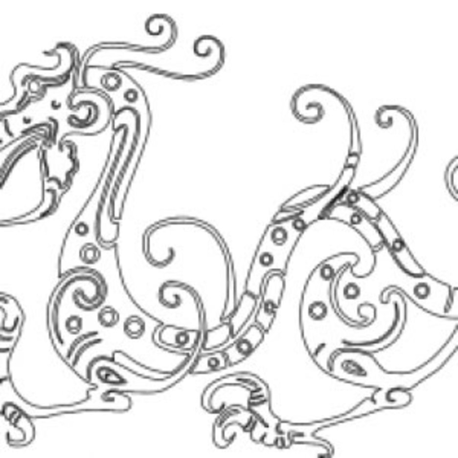 Chinese Style Dragon Stencil