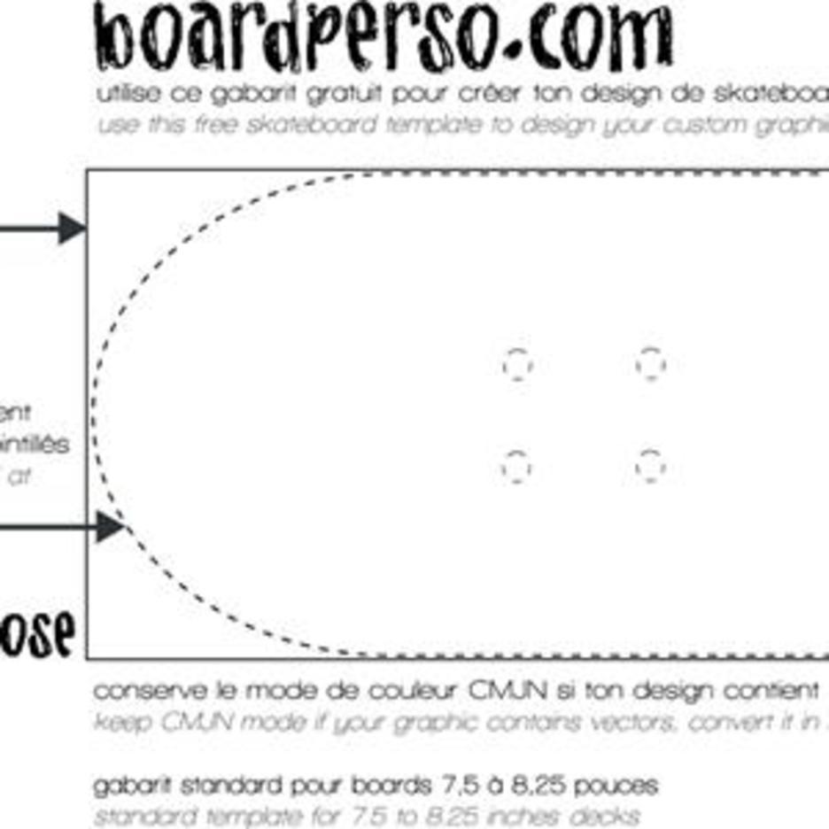 Skateboard Vector Template
