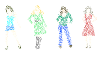 Free Dotty Women Vector Graphics