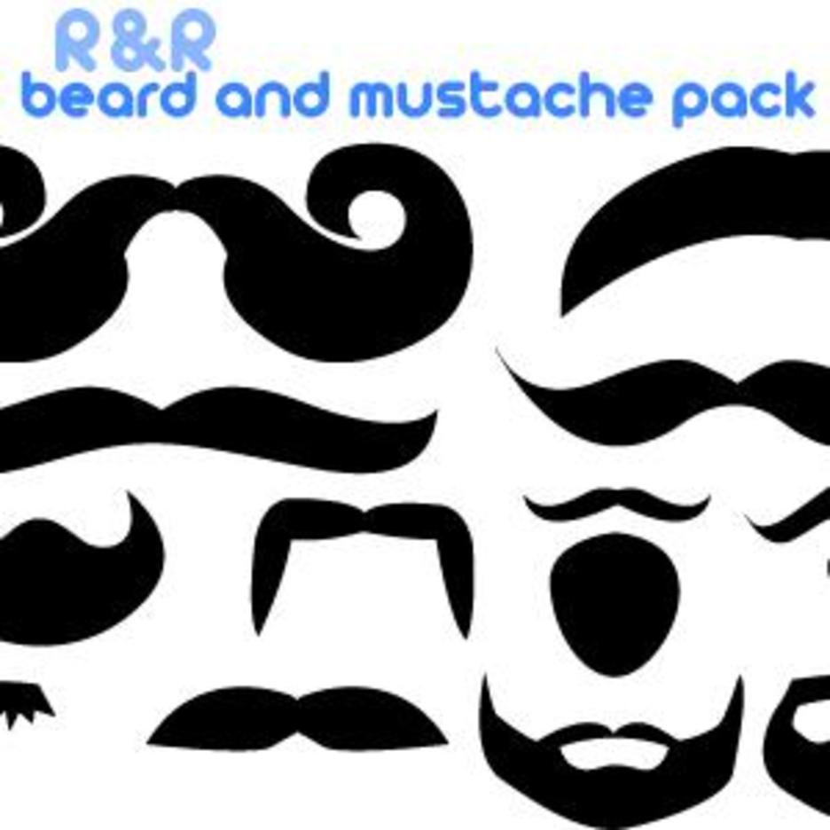 Mustache Vector And Beard Pack