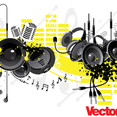 Music Party Vector Art Elements