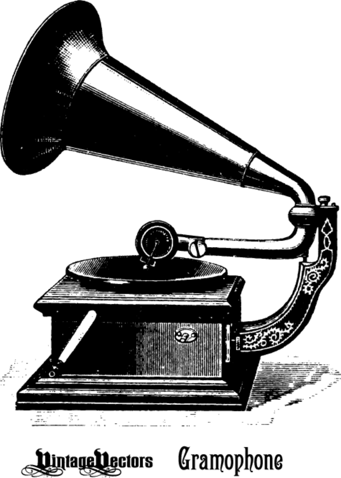 Old Phonograph+Gramophone+Record Player