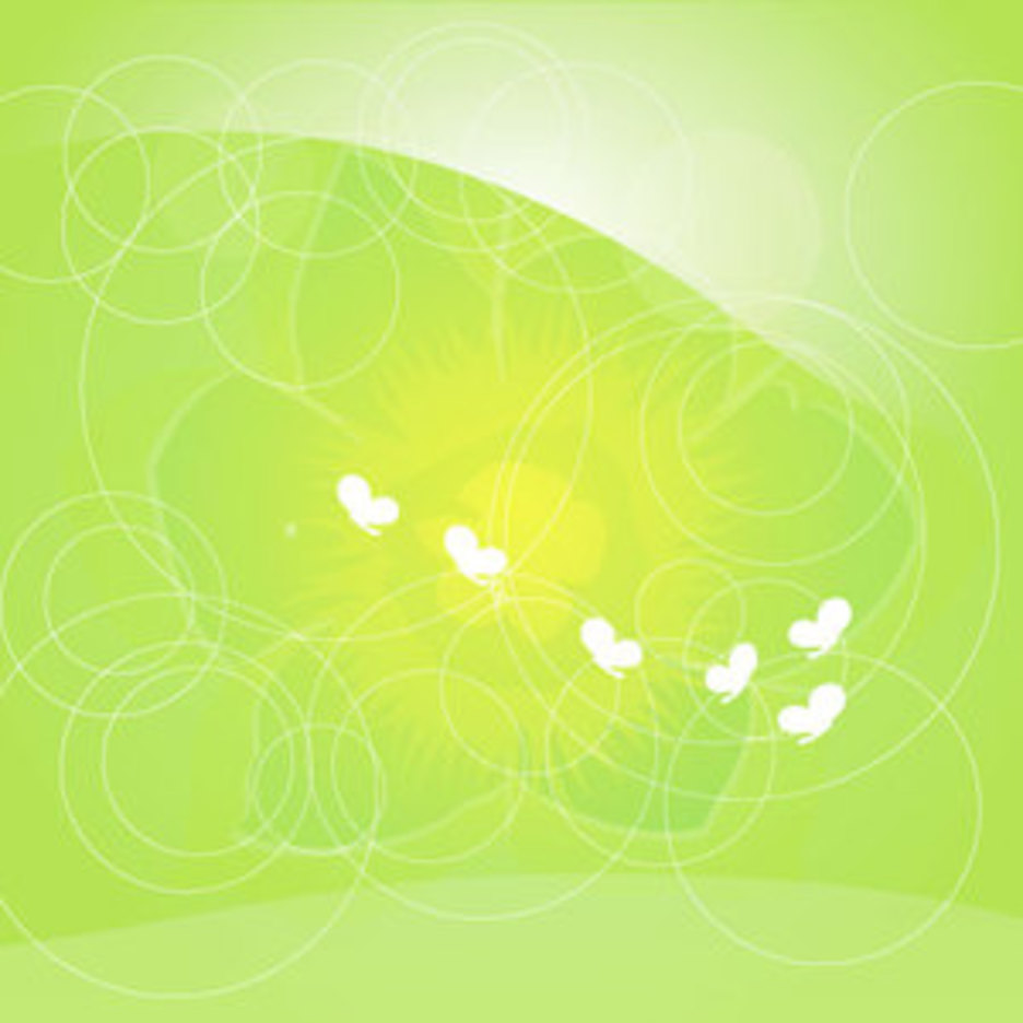 Green Flowers Vector Graphique