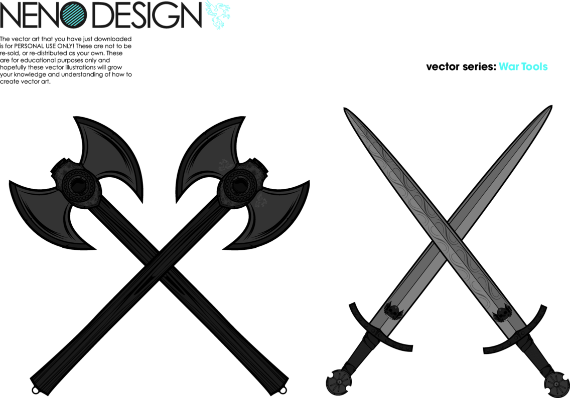 War Tools Axes And Swords