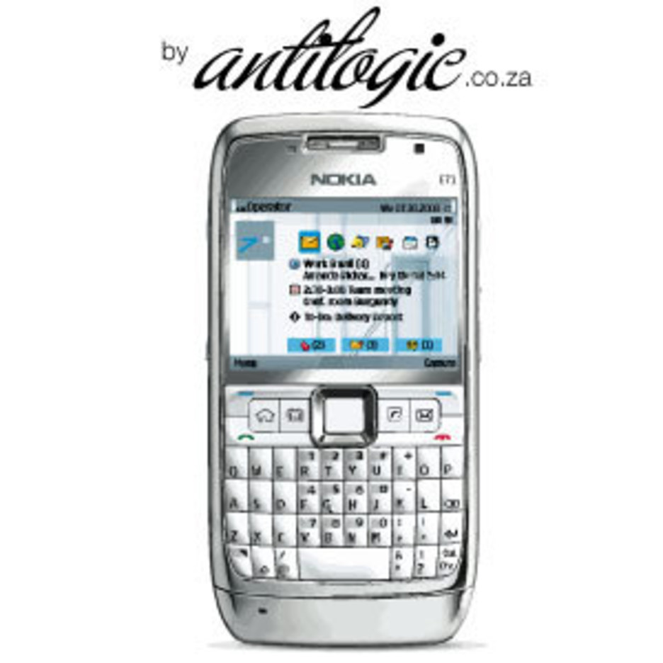 Nokia E71 Smart Phone Vector