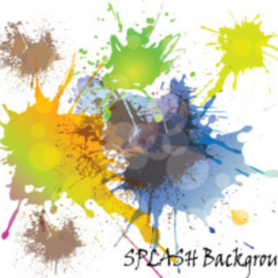 Colored Splash Vector With Retro Circles