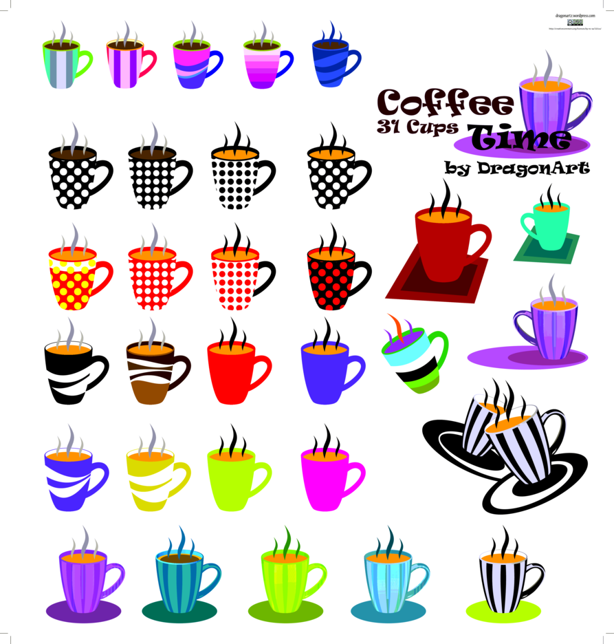 Coffee Vector Time 31 Cups