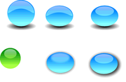 Glass Button Vectors