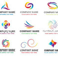 Abstract Logotypes In Rainbow Colors