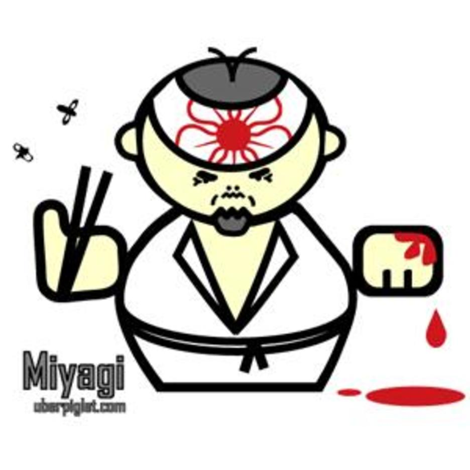 Mr Miyagi Cartoon Vector