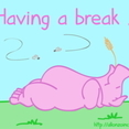 'Having A Break…' Doodle Card