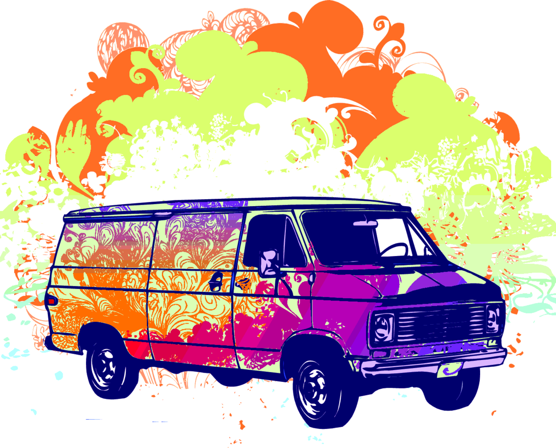 Psychadelic Van Illustration
