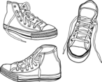 Hand Drawn Illustrated Sneakers