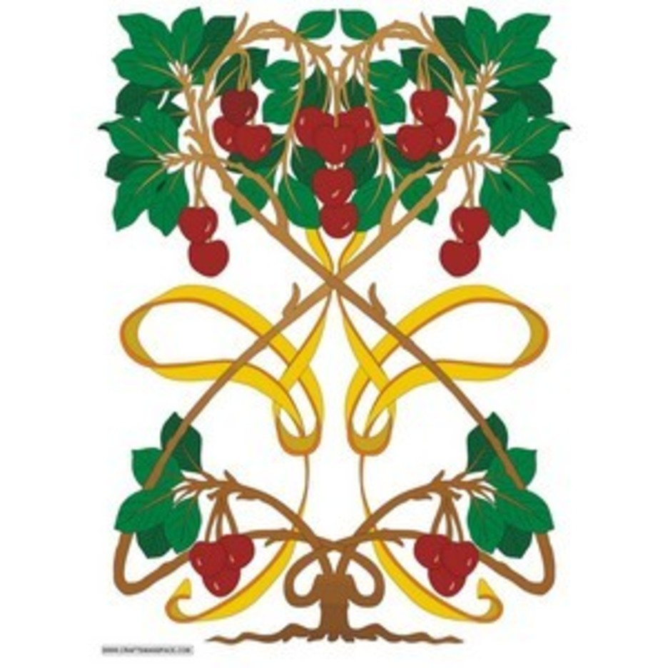 Art Nouveau Cherry Tree